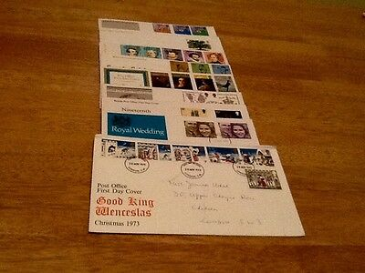 Full set of GB first day covers.1973.
