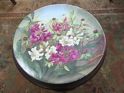 Large Antique Hand Painted Plate / Serving Platter / Charger