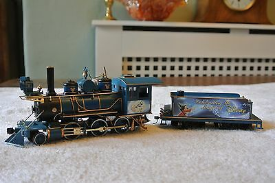 The Magic of DIsney model steam train and tender Mickey Mouse