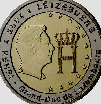 Luxembourg 2 Euro Coin 2004 Commemorative Monograme Henry New BUNC from Roll