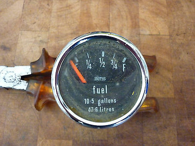 Fuel Gauge. 10.5 Gallons. 47.6 Litres Dial. Smiths. Used
