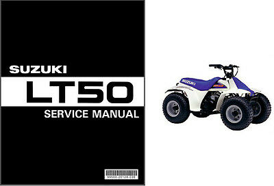 1984-2001 Suzuki LT50 QuadRunner 50 ATV Service Manual on a CD