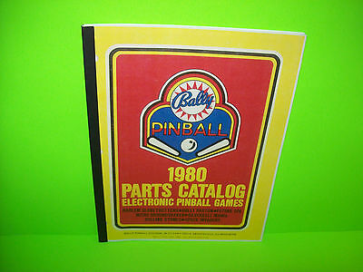 Bally Electronic Solid State Pinball Machine Parts Catalog 1980 Space Invaders +
