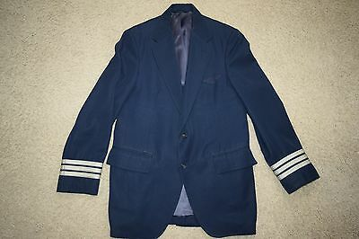 Vtg 80s AA American Airlines Pilots 1st First Officer uniform blazer jacket 38