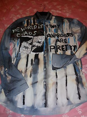 Seditionaries Only Anarchists Are Pretty Strippy Look  Old Punk Look Sex Pistols