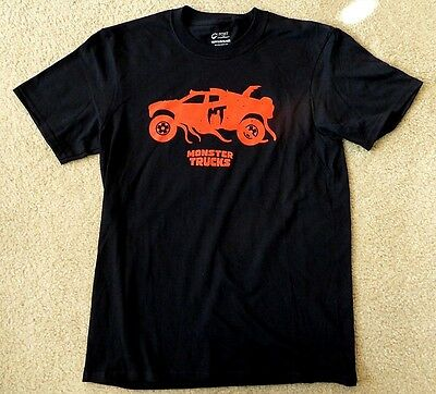 Monster Trucks T-Shirt  Black Youth Sz Xl  New Authentic Studio Movie Promo