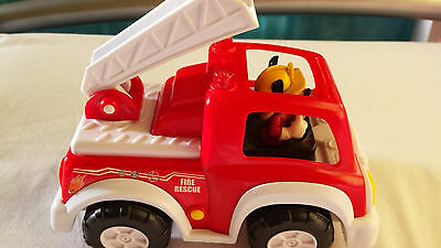 Fire engine car with Mickey Mouse