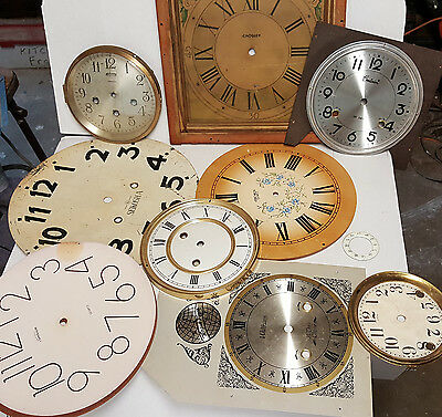 Vintage Lot of  Ansonia Clock 3 key and others clock faces parts/restore