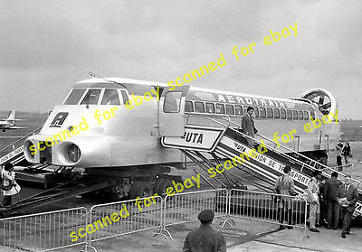 Photo - Aerotrain I80 high speed hovertrain exhibited at a French airport, 1969