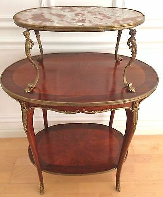 Louis Xv Style 3-Tier Pastry/ Tea Table Late 19C