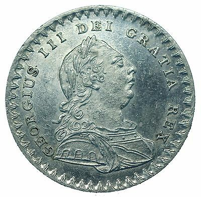 George III Silver Eighteen Pence First Bust 1811 Type A3 S3771 ESC 2112 GEF