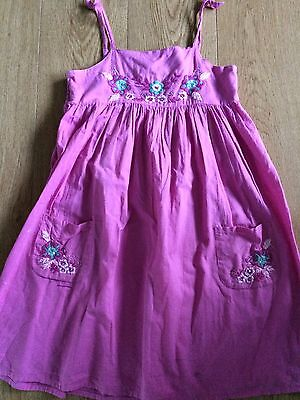 Girls Angels Pink Dress With Floral Motifs Age 10-12 Years