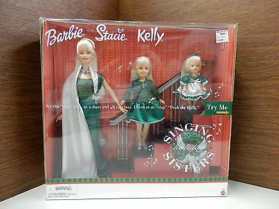 New Barbie Stacie and Kelly Singing Holiday Sisters Mattel # 26260