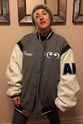 """Alicia Keys """"Diary the Tour"""" Wool & Leather Varsity Jacket (Made For The Crew)"""