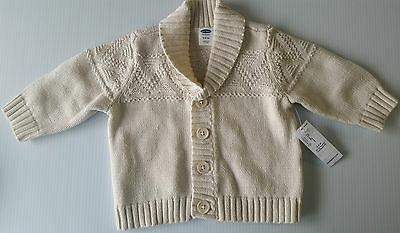 Old Navy Baby Boy's Long Sleeve Fair Isle Cardigan Sweater Size 3-6 Months NEW