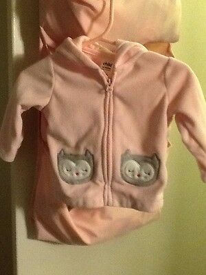 Child Of Mine By Carter Jacket Size 0-3 Months Girl's  Owls Cute Soft