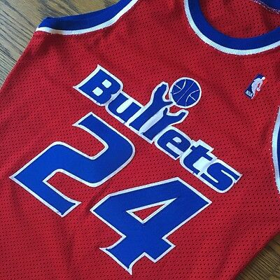 RARE Sand Knit Authentic Jeff Malone Washington Bullets Nba Jersey size 40