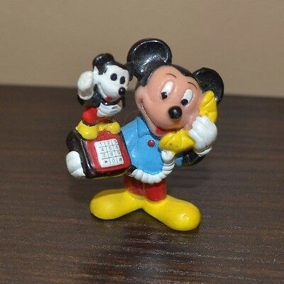 Disney Mickey Mouse with Mickey Mouse Phone Vintage figure