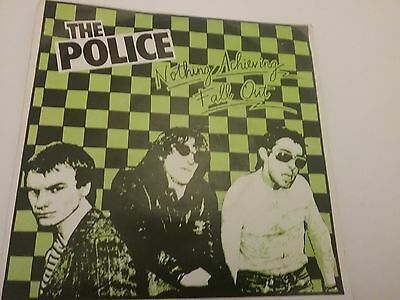 """7"""" RARE VINYL - THE POLICE - FALL OUT / NOTHING ACHIEVING (Pre Andy Summers) `77"""