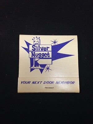 Silver Nugget Casino Purple Printing Unused Matchbook North Las Vegas Nevada