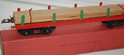 HORNBY SERIES O GAUGE No 2 TIMBER WAGON IN RED LIVERY ORIGINAL BOX
