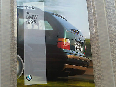 This is BMW 1995 Range Brochure 3 5 7 8 Series with M models