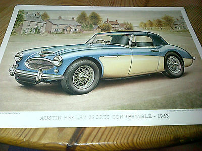 Austin Healey 3000 Convertible Print by Olyslager Workshop Manual Company