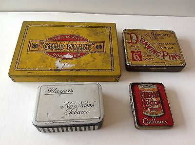 Collection Of 4 Vintage Advertising Tins