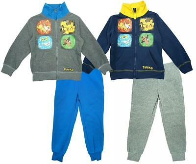 Boys Tracksuit Pokemon Starter Official Zip Jacket Jogging Suit 4 to 12 Years