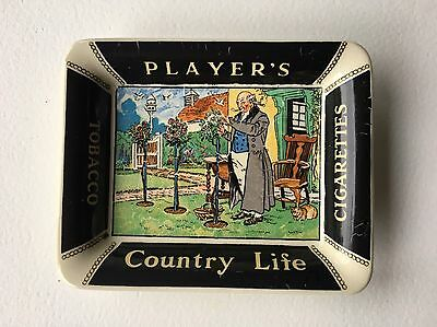 Vintage Players Country Life Cigarettes Tobacco Ashtray - British Advertising