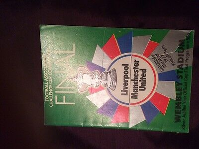 Manchester United vs Liverpool 1977 FA Cup Final Programme