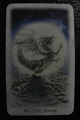 18-The Moon The Celtic Dragon Tarot Single Replacement Card Excellent