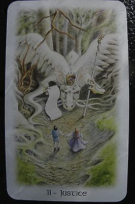 11-Justice The Celtic Dragon Tarot Single Replacement Card Excellent
