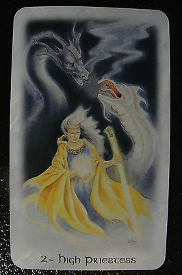 2-Hight Priestess  The Celtic Dragon Tarot Single Replacement Card Excellent