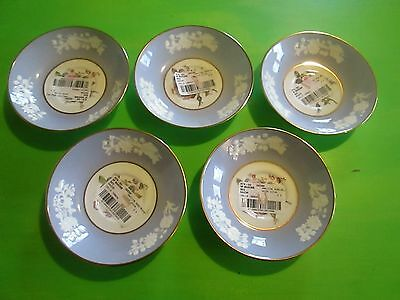 """Vintage Lot of 5 SPODE Maritime Rose R4118 Saucers NOS 5 3/8"""" Made in England"""