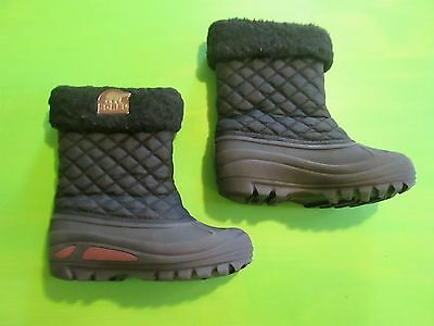 SOREL Powder Storm Girls Insulated Snow Boots Black Youth Size 13