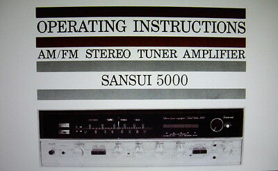 sansui au 9900 integrated st amp operating instructions inc conn rh picclick co uk Clip Art User Guide Example User Guide