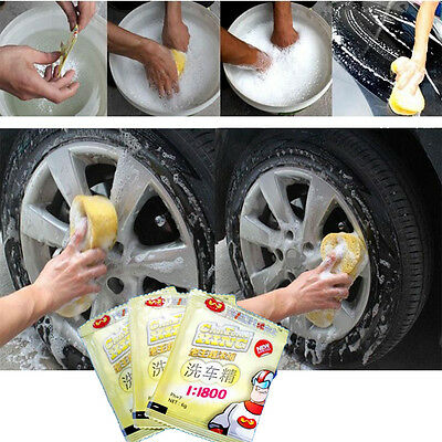 Car Vehicle Wash Cleaning Concentrate Shampoo Detergent Powder Soap 6g