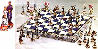 Meticulously Detailed ** CIVIL WAR CHESS SET ** Authentic Costumes ** NIB