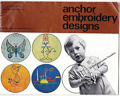 A Vintage Anchor Embroidery Transfer Designs Book 1969