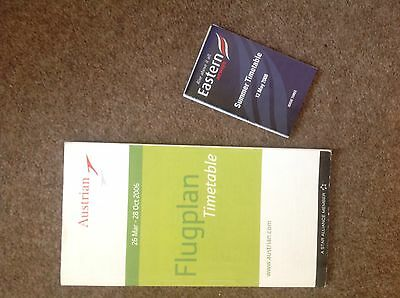 Airline Timetable Austrian Airlines 2006 & Eastern Airways 2008