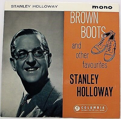 """STANLEY HOLLOWAY : BROWN BOOTS AND OTHER FAVOURITES EP 7"""" Vinyl Single 45rpm VG"""