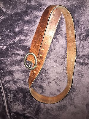 Next Brown Leather Ladies Belt Size Med