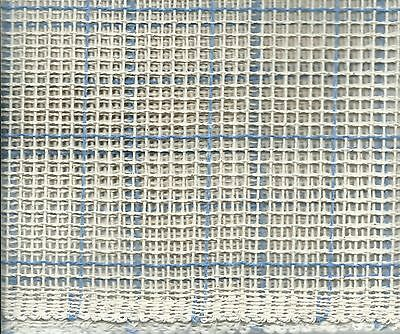 """25"""" W By 14 Yds (504 Inches) One Piece - 3.5 Count Of Latch Hook Rug Canvas"""