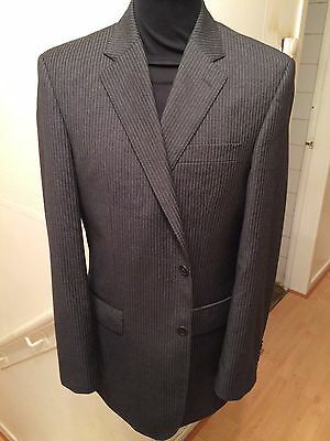 Chester By Chester Barrie Savile Row Suit 40R 32W 32L Dark Grey Pinstripe