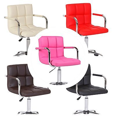 Single NEW Bar Stool Chair Seat Adjustable Wheels Home Office