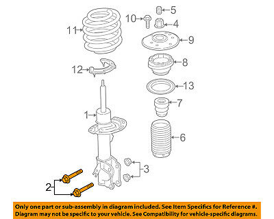 FORD LINCOLN W715436S439 GENUINE OEM GEAR ASSY MOUNT BOLT