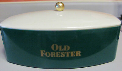 Vintage Old Forester Whisky Green Ice Bucket