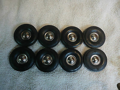Vintage Lot Of 8 Old Renwal Usa Car And Truck Tires 1 3/4 X 7/8 With Hubcaps N/r