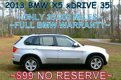 2013 BMW X5 xDrive35i Sport Utility        $99 NO RESERVE 2013 - 1 OWNER! ONLY 38,000 MILES! PANO ROOF! AWD 4X4! LIKE NEW! $99 NO RESERVE!